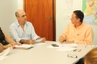 Reunião sobre enchentes na Prefeitura