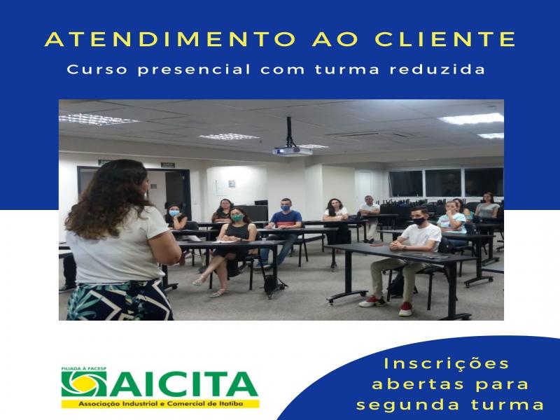 Alta procura faz Aicita agendar segunda turma do curso presencial de Atendimento ao Cliente