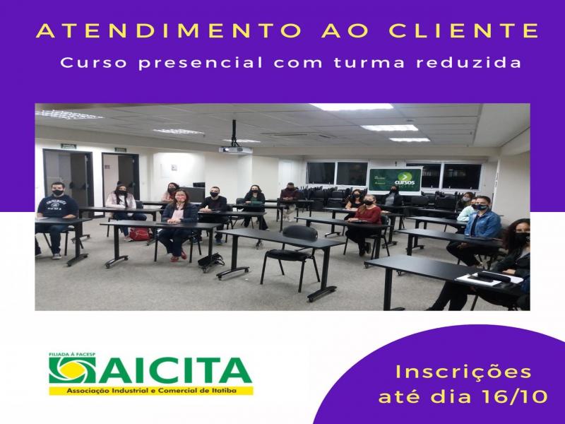 Inscrições para curso de Atendimento ao Cliente da Aicita seguem até sexta