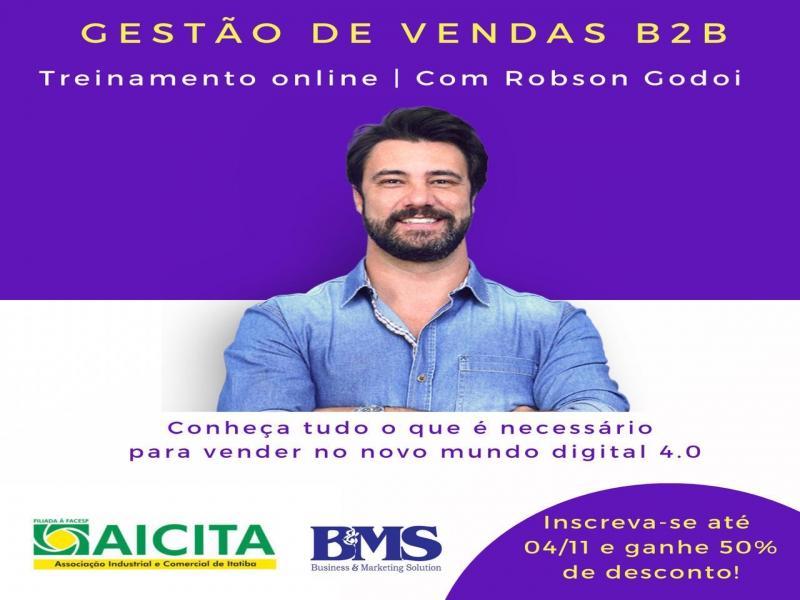 Aicita promove treinamento online para empresas que vendem para outras empresas