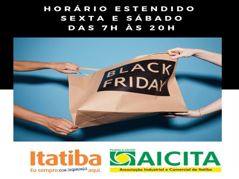 A pedido da Aicita, comércio pode funcionar com horário estendido nesta Black Friday