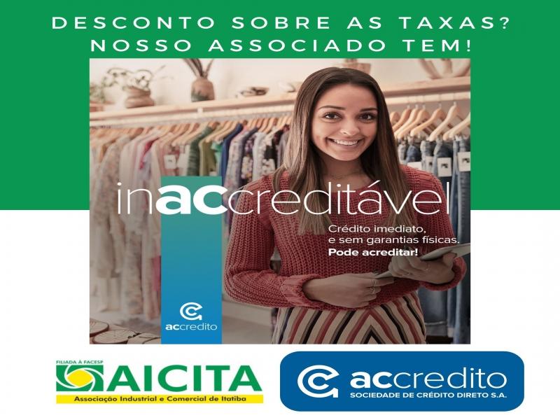 Aicita passa a oferecer crédito a pequenos empresários associados