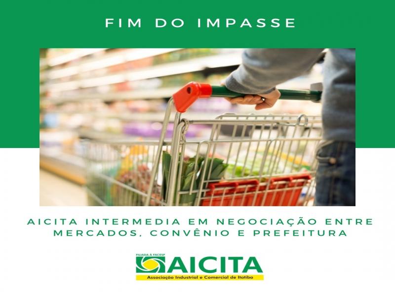 Aicita intermedia para fim de impasse entre mercados associados, convênio e Prefeitura
