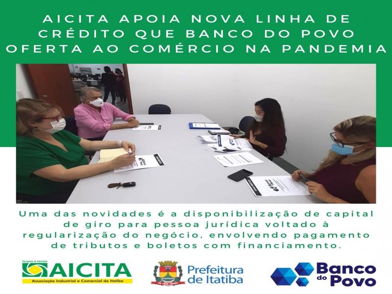 Aicita apoia nova linha de crédito que Banco do Povo oferta ao comércio nesta pandemia
