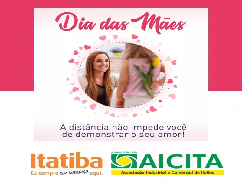 Campanha de Dia das Mães da Aicita estimula compra no comércio local