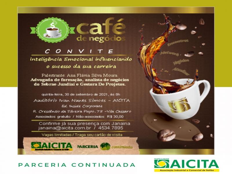 Aicita retorna Café de Negócios presencial