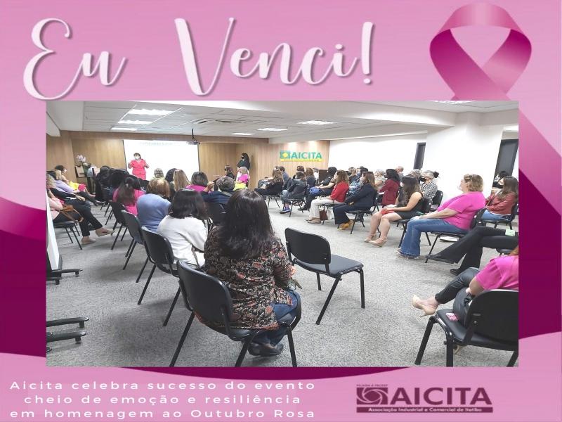 Evento da Aicita pelo Outubro Rosa emociona ao abordar a resiliência